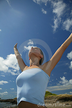 Free Young Woman Breathing Royalty Free Stock Images - 8864469