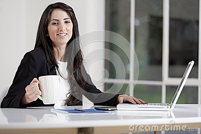 Young woman in business
