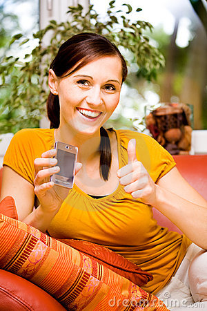 Young woman with cellphone 1