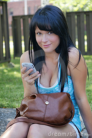 Young woman with cellphone