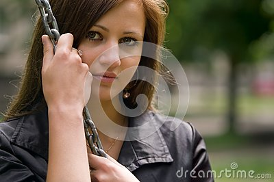 Young Woman With Chain Horizontal