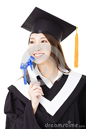 Free Young Woman College Graduate Portrait Royalty Free Stock Image - 66321386
