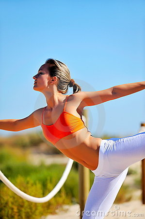 Free Young Woman Doing Exercises Stock Photography - 7594392