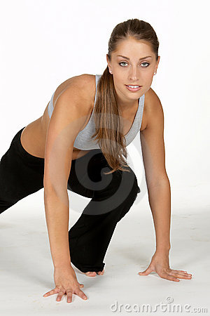 Young Woman Doing Leg Lunge