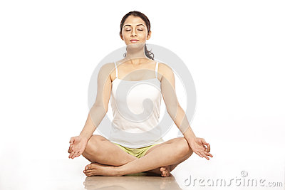 Young Woman doing Meditation