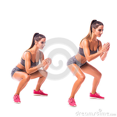 Free Young Woman Doing Sport Exercise. Stock Images - 78843354
