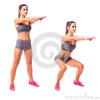 Free Young Woman Doing Sport Exercise. Stock Images - 78843534