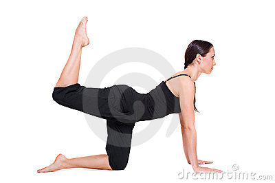 Young woman doing sporty exercise