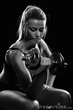 Free Young Woman Doing Workout Stock Photography - 17975752