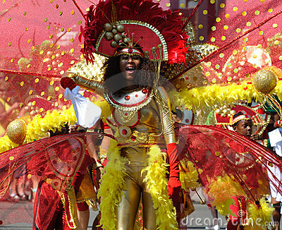 Young woman at Edmonton s Cariwest parade Editorial Stock Photo