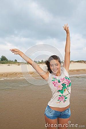 Young woman enjoy