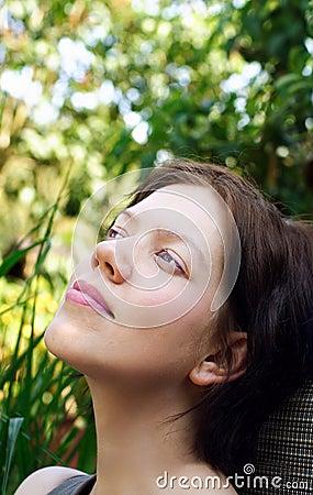 Free Young Woman Enjoying Freetime Stock Image - 4357751