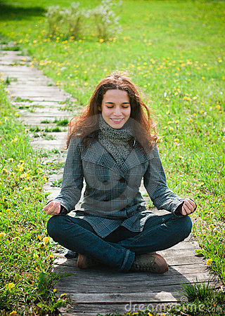 Young woman enjoying life outdoor