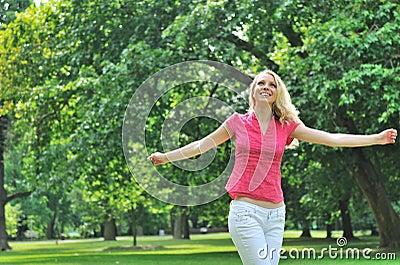 Young woman enjoying outdoors