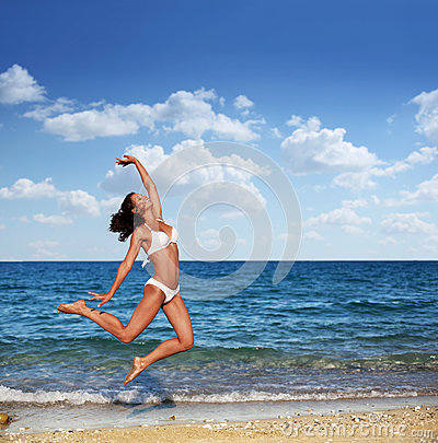 Young woman enjoying summer rest.