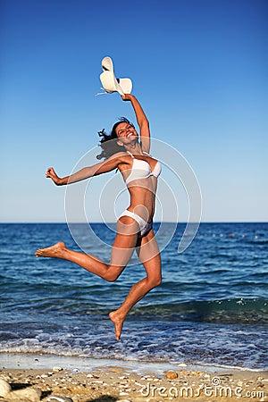 Young woman enjoying summer rest.
