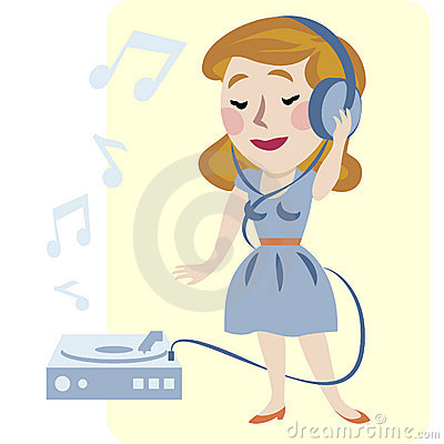 Young woman enjoyment music