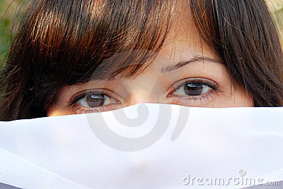 Young woman eyes