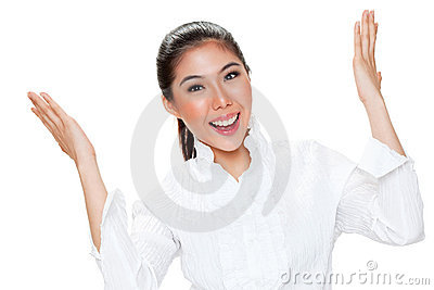 Young woman face expression