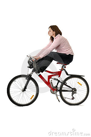 Free Young Woman Feet In The Air On Bycicle Royalty Free Stock Photos - 13470118