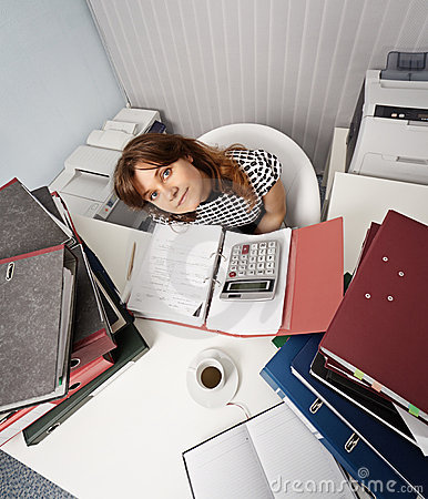 Free Young Woman - Financier On Office Workplace Royalty Free Stock Image - 20530096