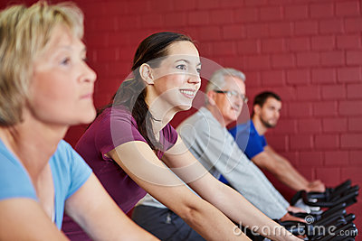 Young woman in fitness center