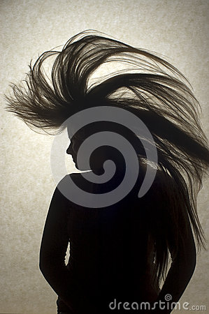 Young Woman Flipping Hair