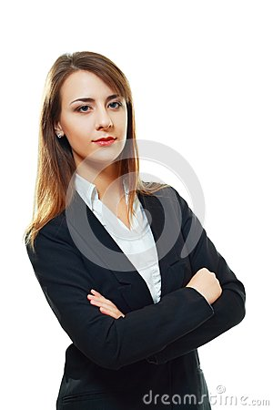 Young woman with folded arms