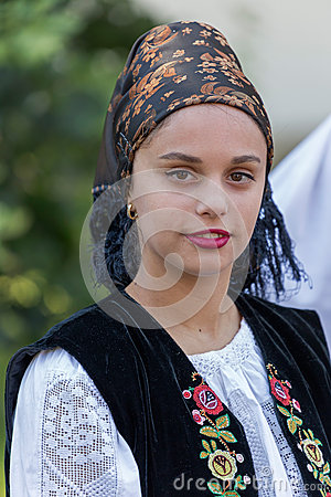 Free Young Woman From Romania In Traditional Costume 10 Stock Image - 74188771