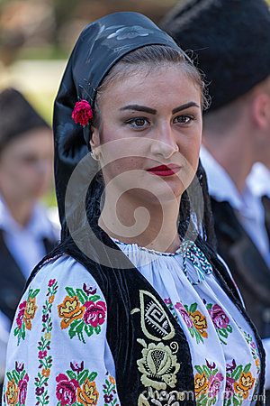 Free Young Woman From Romania In Traditional Costume 11 Royalty Free Stock Photography - 74188607
