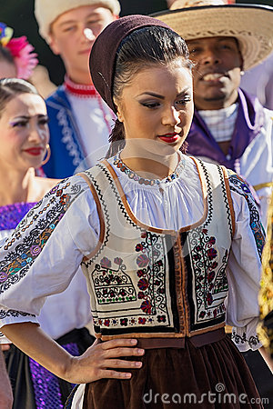 Free Young Woman From Romania In Traditional Costume 19 Royalty Free Stock Images - 74542759