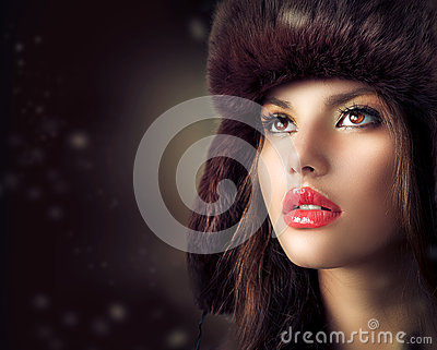 Young Woman in a Fur Hat