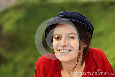 Young Woman in Gatsby Cap