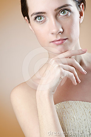 Young woman - glamour shoot