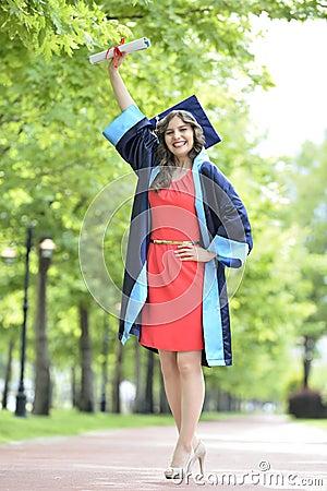 Free Young Woman Graduate Stock Photo - 40897790