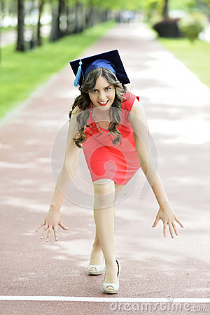 Free Young Woman Graduate Royalty Free Stock Photos - 40982058