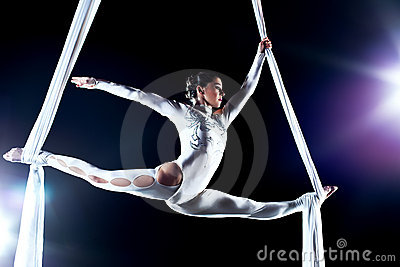 Young woman gymnast