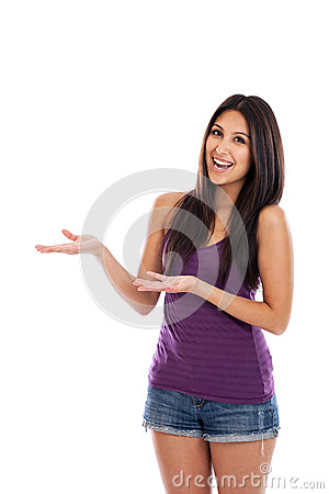 Young woman hand gesturing