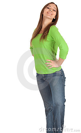 Young woman with hands on hips