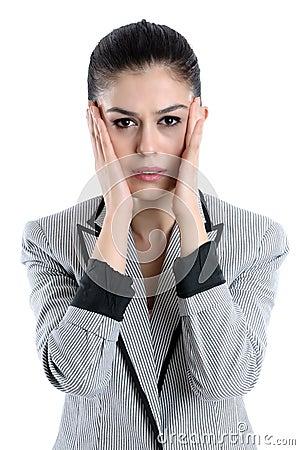 Young woman having a headache