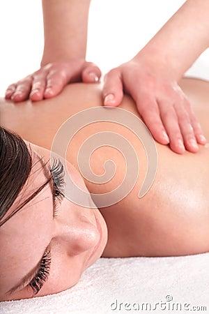 Young woman having  massage.