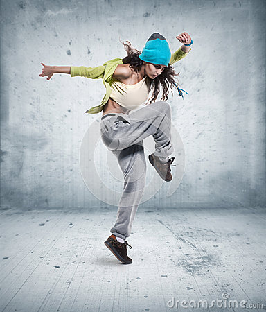 Free Young Woman Hip Hop Dancer Royalty Free Stock Photo - 29973185