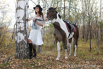 Young Woman And Horse Royalty Free Stock Image - Image: 11201116