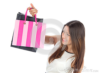 Young woman hshopping bags