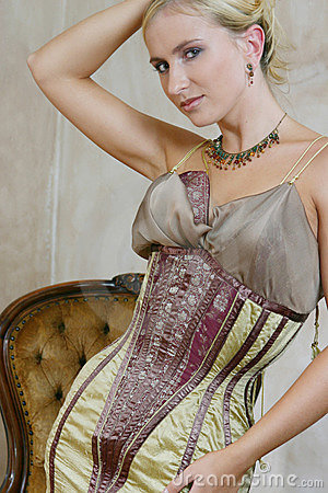 Free Young Woman In Antique Dress 4 Royalty Free Stock Photo - 168085