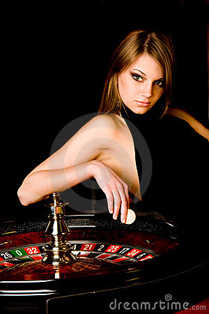 Free Young Woman In Casino Stock Photo - 8900430