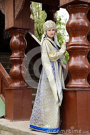 Free Young Woman In Russian Costume Stock Image - 56684881