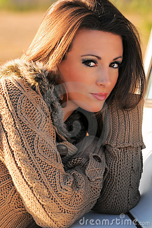 Free Young Woman In Sweater Stock Photography - 13384332