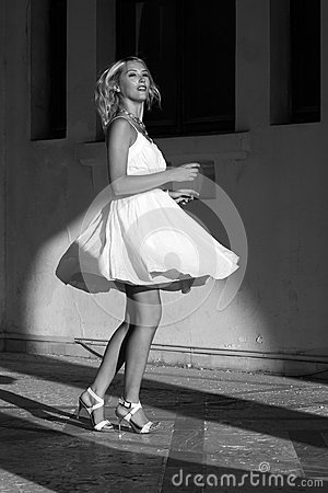 Free Young Woman In White Dress Stock Photos - 37947653