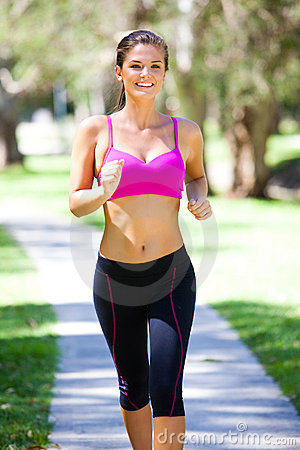 Young Woman Jogging Royalty Free Stock Images - Image: 13562669